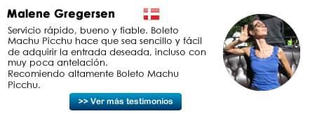 Testimonial Bigliet Machu Picchu